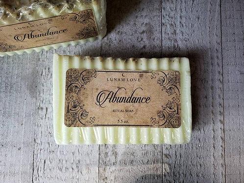 Abundance Ritual Soap- Bringing An Abundance of All Forms: Wealth, ETC..