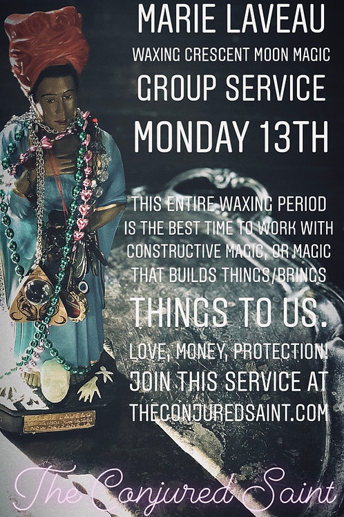 Marie Laveau Group Petition  Service-  Love, Money, Protection!