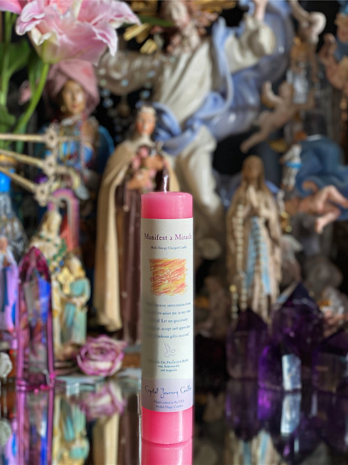 Manifest a Miracle Reiki Candle-  Wish granting Candle