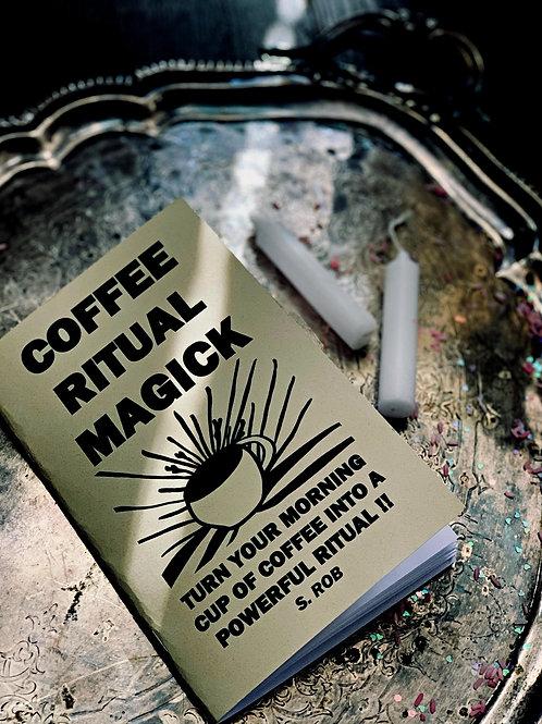 Coffee Ritual Magic Book & Altar Set-up -Money, Love, Good Luck