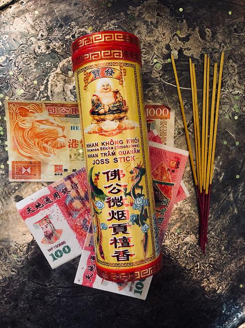 Joss Offering Sticks- Ghost/Spirit Money Incense- Burned for Wealth & Prosperity