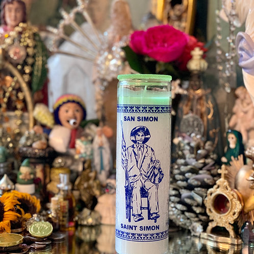San Simon/St.Maximon- 7-Day Traditional Ritual Candle-  Wealth & Luxury Spells