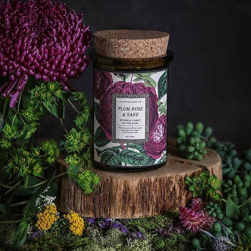 Botanical  | Plum Rose + Sake | Candle
