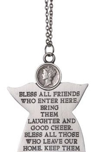 Silver Mercury Dime Angel House Blessing Amulet- Protection, Blessings, Family
