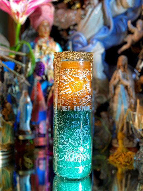 Money Drawing 7-Day Ritual Candle- Quick Fast Money, Unexpected Cash Flow