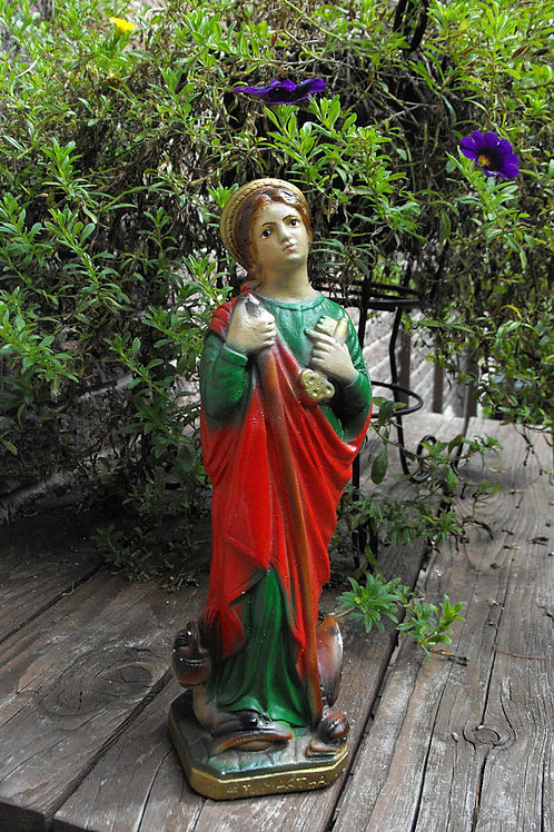 Saint Martha Vintage Statue- Turns Situations In Your Favor