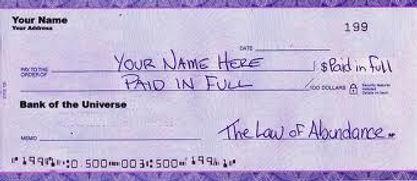 Blank Check | Abundance Check For The New Moon