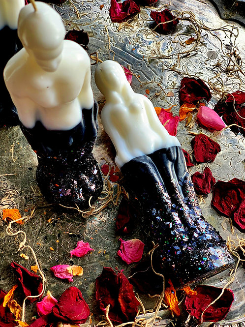 Purity & Protect Double Action Female Figure Candle- Remove Negativity, hoodoo, pagan, candle ,magic