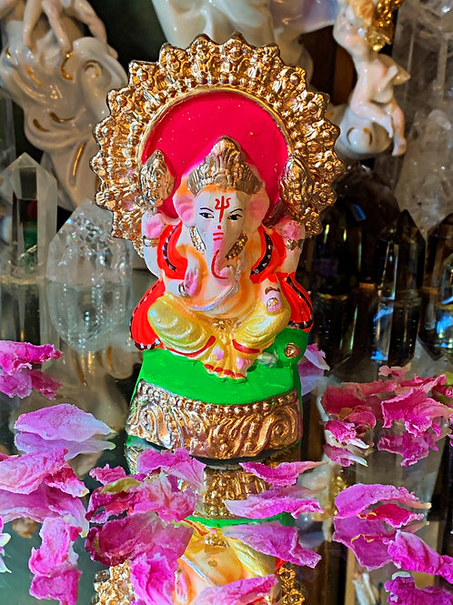 Ganesh Hand Made & Painted Statue- Removes Obstacles, Draw Opportunity