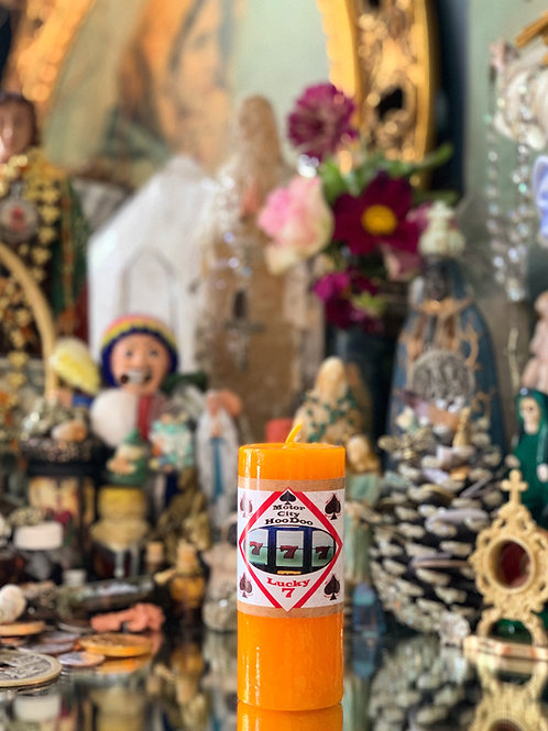Lucky 7 Hoodoo Candle- Good Fortune & Plentiful Winnings To Come Your Way