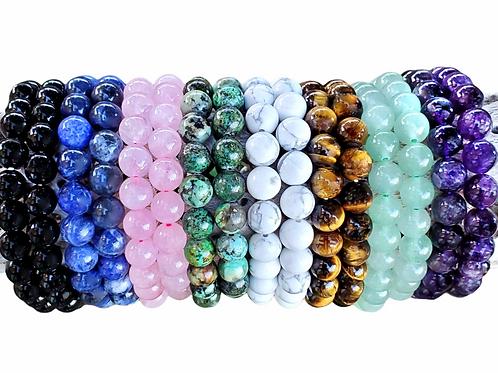 Lapis Lazuli Gemstone Bead Bracelet- Protection Manifestation