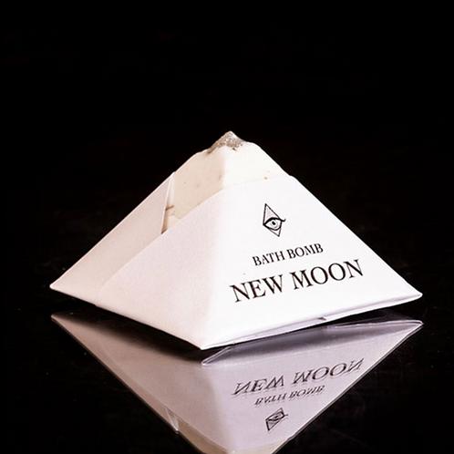 New Moon 4oz Bath Bomb (4oz) - Positive Shift, Beginnings, Success, Messages
