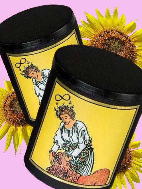 Strength - Magickal Tarot Candle 8oz- Power, Energy, Action, Success