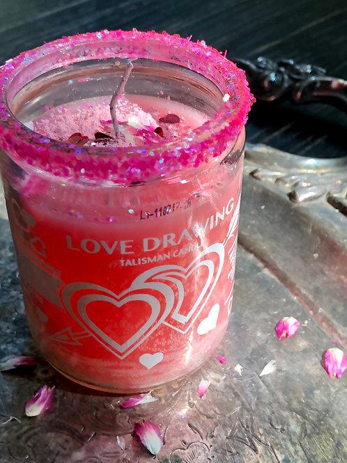 Love Drawing Candle-Hoodoo, Voodoo, Wiccan, Pagan, Santeria, Brujeria, Folk Magic, Pagan, Spiritualist, spell, conjure