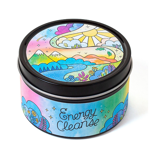 Energy Cleanse - Citrus & Herb Aromatherapy Candle 5oz- Clearing & Protection