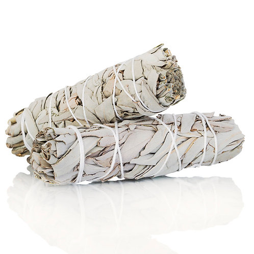 Organic White Sage Smudge Bundle - Purification, Protection, Health, Blessings