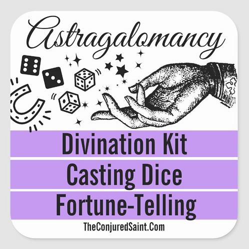 Astragalomancy -Divination Kit- Casting Dice, Fortune-Telling