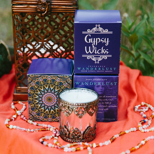 Boho Collection - Wanderlust -  Gypsy Wicks Candles