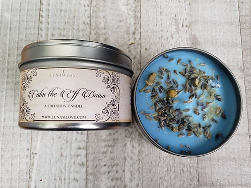 CALM the Eff DOWN Spell Candle-  Cleanse Drama and Smooth Moods
