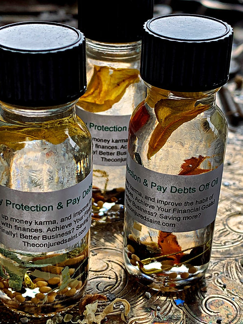 Money Protection & Pay Debts Off Oil- Clean up Money Karma