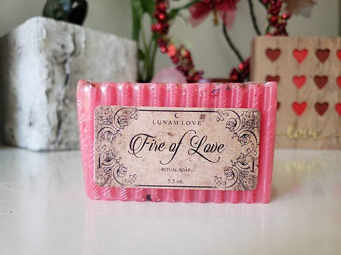 Fire of Love Ritual Soap- Love Drawing, Passion, Romance, Lust, and Love.