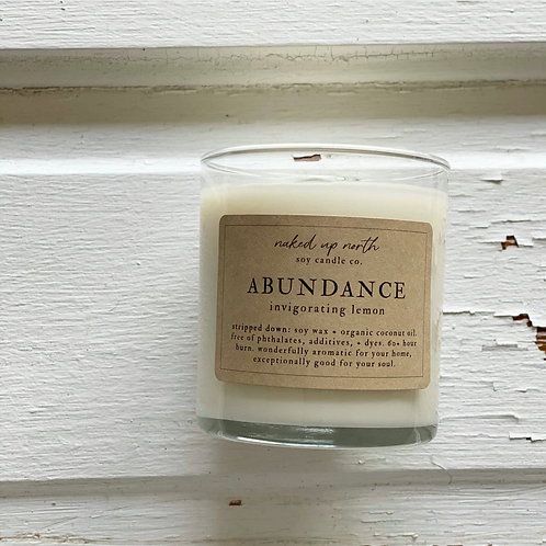 Abundance Candle- New Blessing, Fresh Wishes, Abundance, Protection