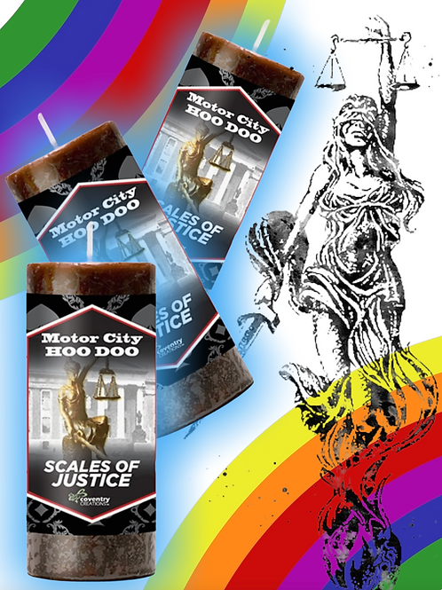 Scales of Justice Candle- Court Case Divorce, Custody, Immigration, Protection