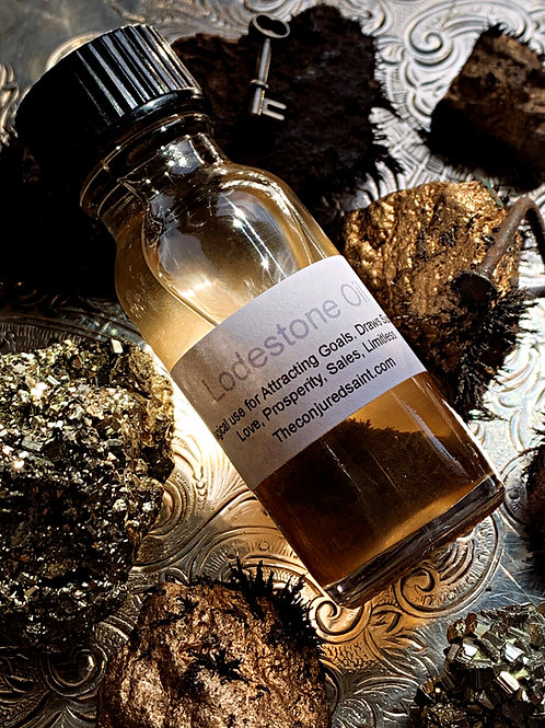 Lodestone Oil- Attracts Goals, Draws Success, Love, Prosperity, Sales, Limitless