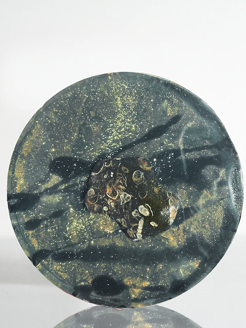Chocolate Lullaby Soap -Crystal Infused- Turritella Agate - Past Life Recall