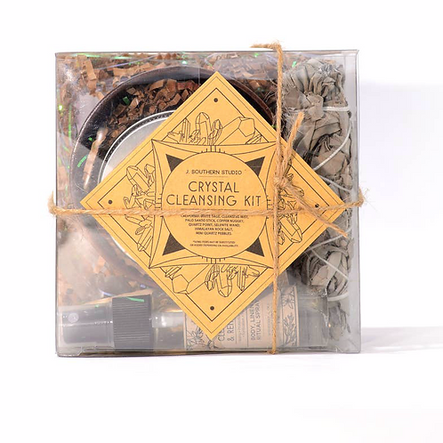 Crystal Cleansing Ritual Kit-  Effectively Cleanse & Charge Your Crystals
