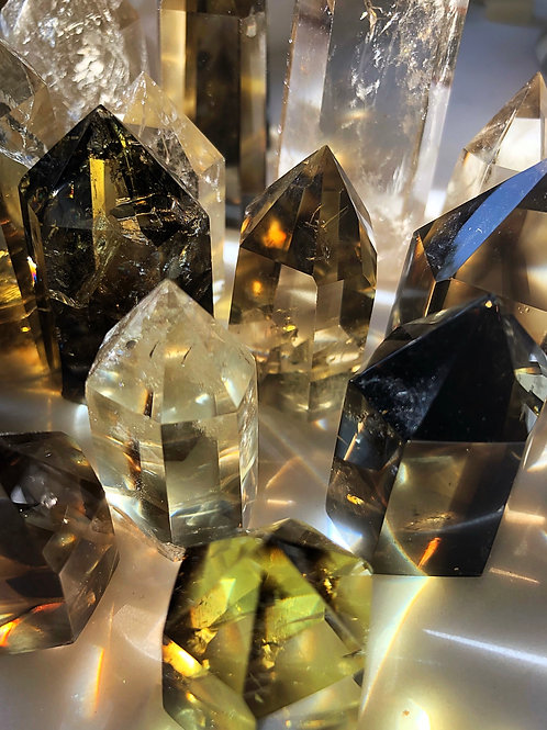 """Citrine Point Natural for Prosperity & Success - AAA Quality, """"Merchants Stone"""""""