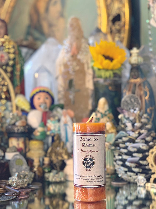 Come To Mama Wicked Witch Mojo Candle- General Attraction Spells