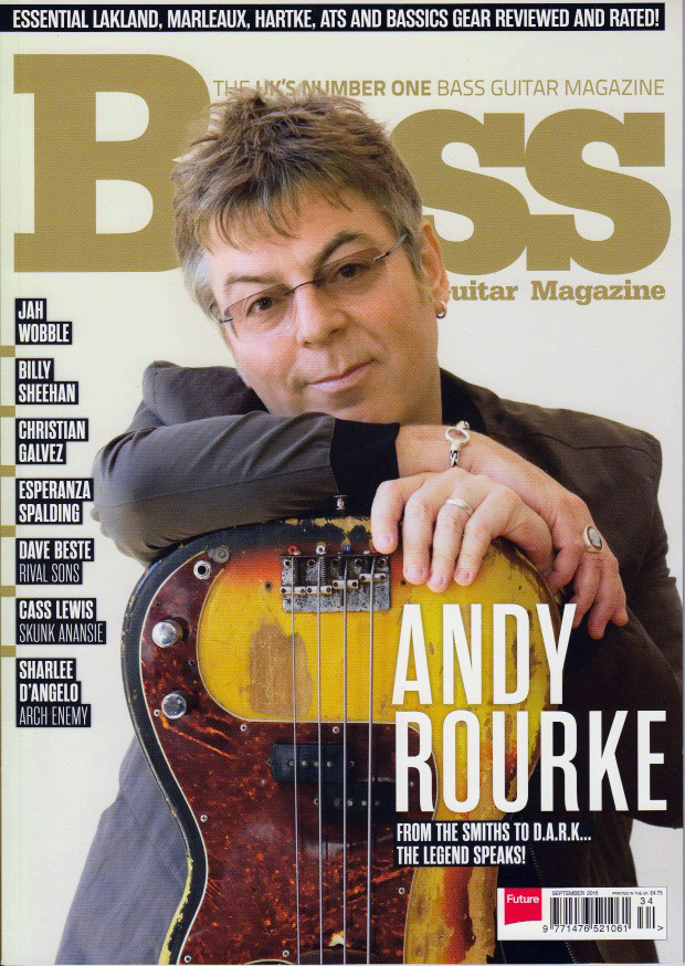 Bass Guitar Magazine - Andy Rourke cover