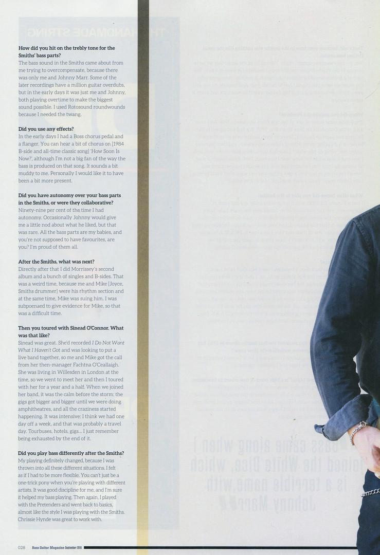 Bass Guitar Magazine - Andy RourkeDARK f