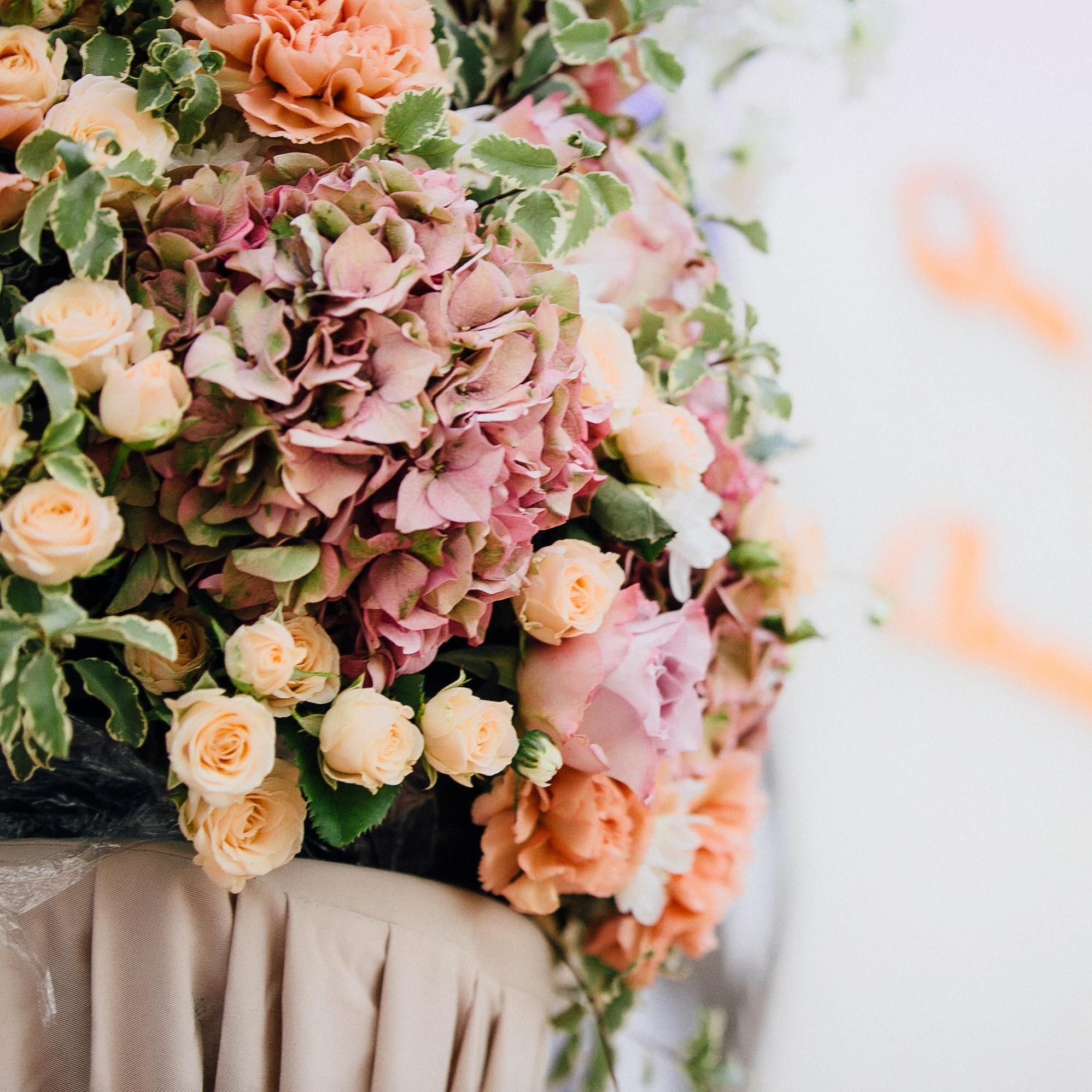 Оформление свадьбы, цветы композиция