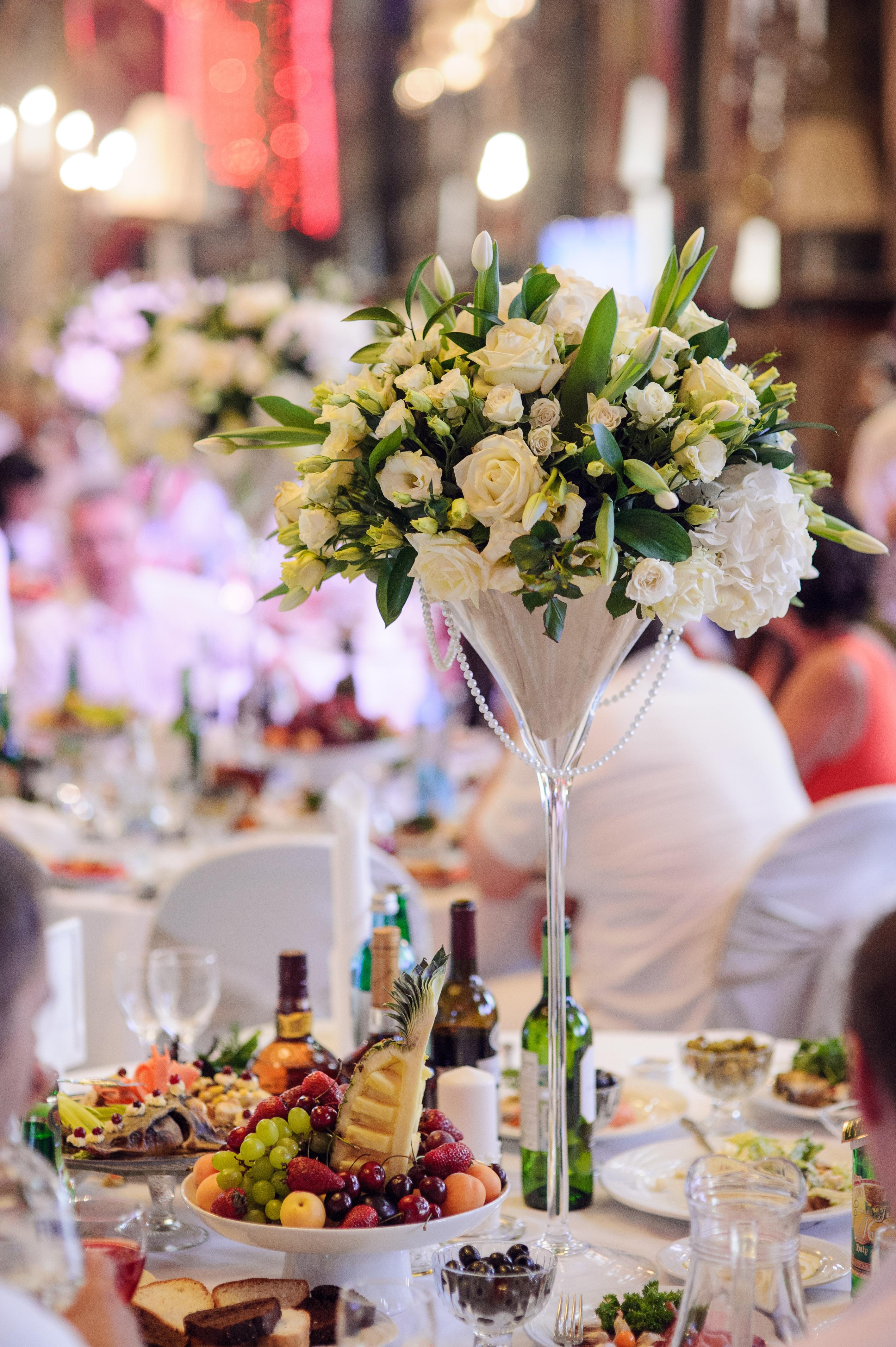 Оформление свадьбы, на столах