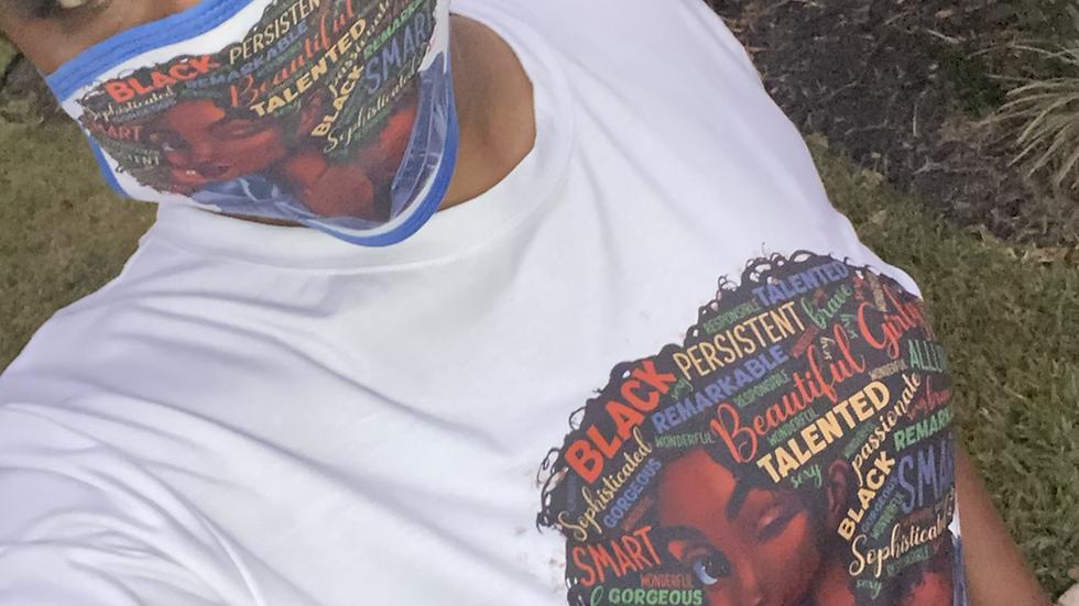 Matching mask and shirt set 2XL-4