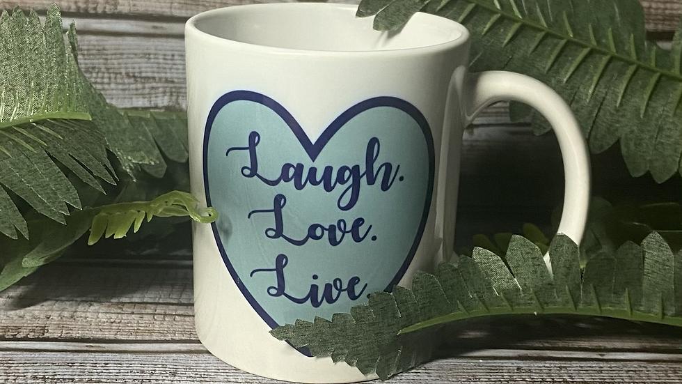 Laugh Love Love Mug