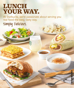 Starbucks lunch your way menu
