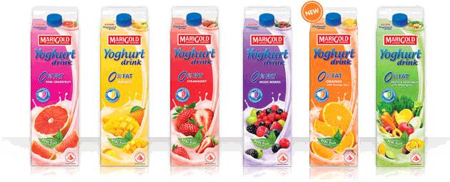 Marigold yogurt drink