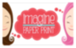 IMAGINE - Paper Print - Lembrancinhas para festas. Custom party favor