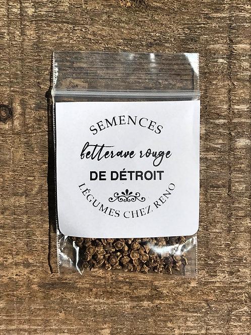 Semences de betteraves rouges et rondes de Détroit (environ 350)