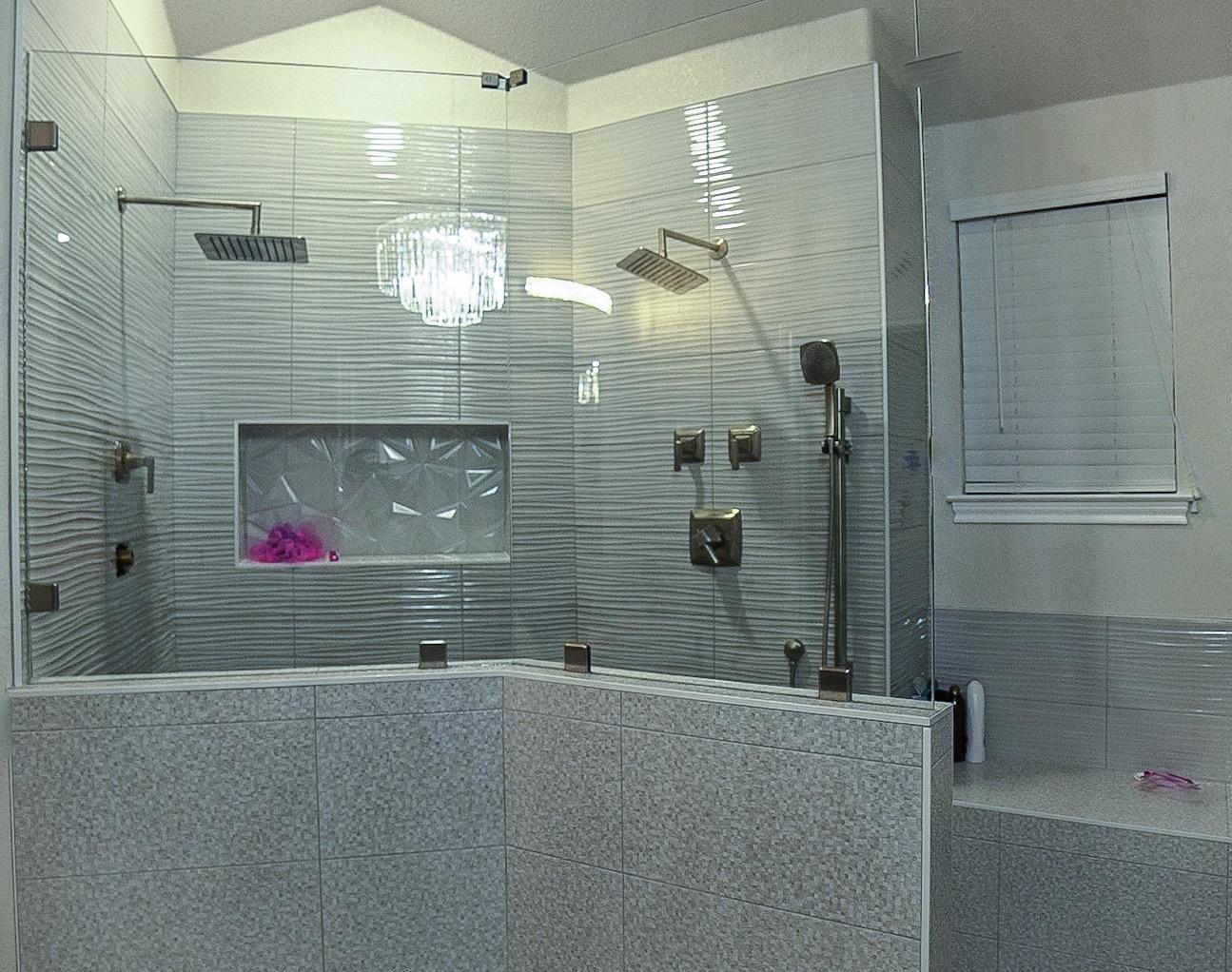 wide shower 2 partition
