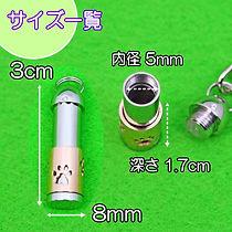 遺骨カプセル ステンレス製 スリムキーホルダー「肉球」 1,800円jpg.jp