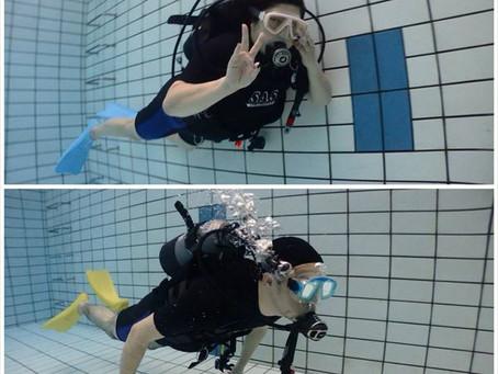 仲良しメンバーで体験ダイビング