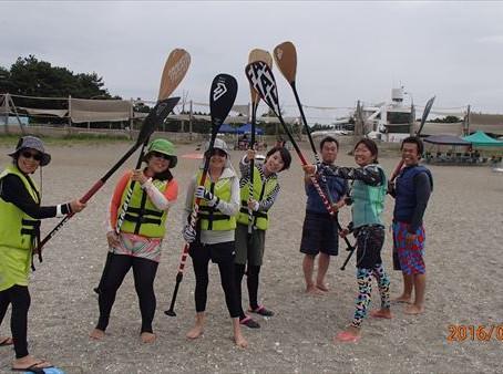 検見川浜で海遊びSUP!!