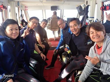 DiveAward台湾ツアー 2019年12月31日~1月4日