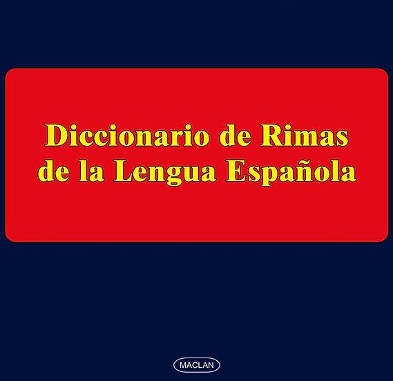DICCIONARIO DE RIMAS DE LA LENGUA ESPAÑOLA