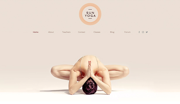 Wellness website templates – Yoga Center