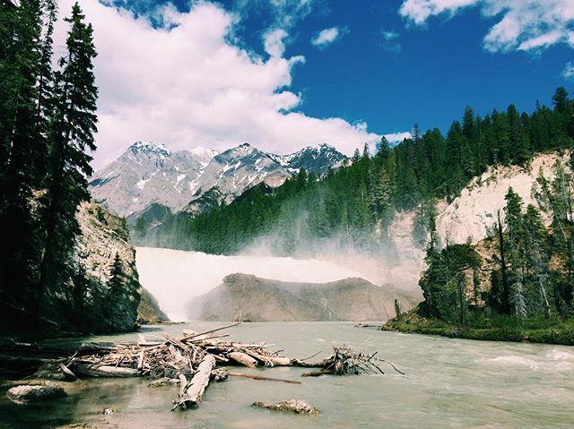 The wild Kicking Horse River #kickinghor